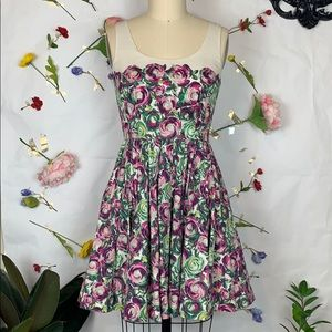 LC Lauren Conrad floral dress with pockets